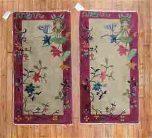 Pair of Art Deco Chinese Rugs