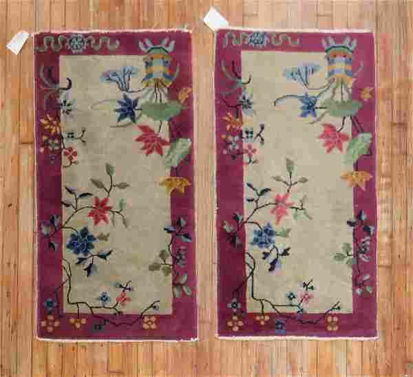 Pair of Art Deco Chinese Rugs