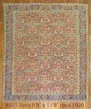 Antique Persian Heriz All-Over Rug