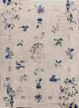 Pre-1900 Antique Peking Chinese Oriental Area Rug 11x12