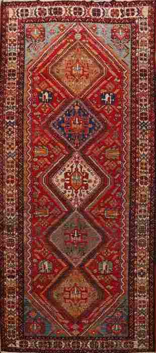 Pre-1900 Antique Vegetable Dye Qashqai Persian Area Rug