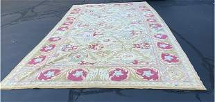 Hand Knotted Spanish rug Antique 12x18