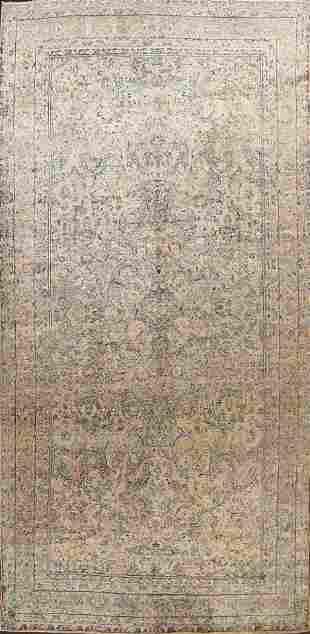 Large Vegetable Dye Antique Kerman Lavar Persian Rug