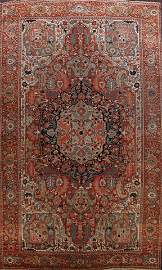 Antique Heriz Serapi Vegetable Dye Persian Area Rug