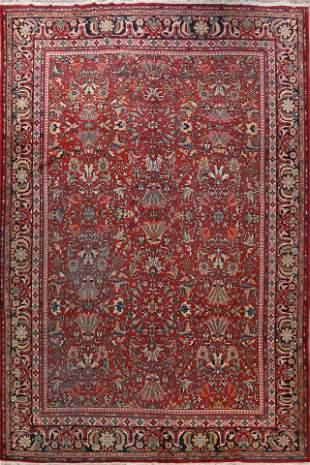 Antique Vegetable Dye Sarouk Persian Area Rug 11x14
