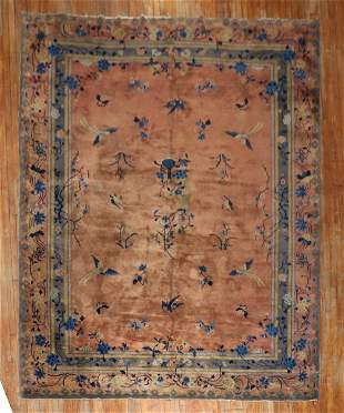 Stunning Chinese Penny Gray Room Size Rug