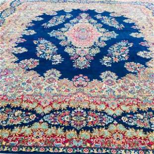Antique Persian Kerman rug-4773