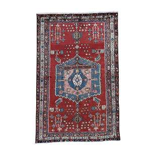 Unused Persian Afshar Pure Wool Hand-Knotted Oriental