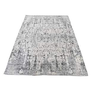 THE TREE BARK Abstract Design Hand-Knotted Soft Wool