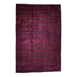 Mansion Size Afghan Khamyab Pure Wool Hand Knotted