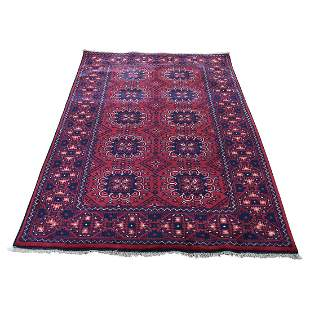 Afghan Khamyab Dense Weave Silky Wool Hand Knotted