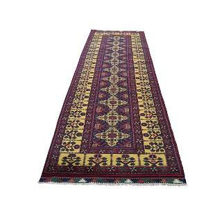 Afghan Khamyab Vegetable Dyes Pure Wool Hand-Knotted