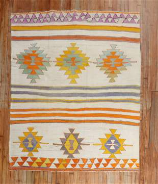 Bright Boho Turkish Kilim