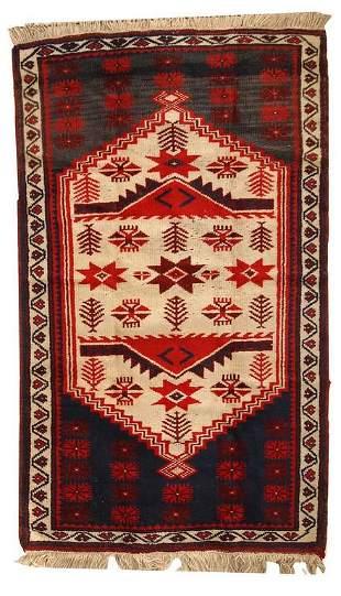 Handmade vintage Turkish Anatolian rug 2.8' x 4.7' (
