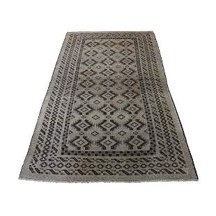 Washed Out Pure Wool Afghan Baluch Wide Runner