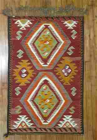 Small Tribal Turkish Kilim