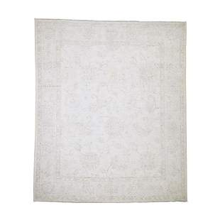 Stone Wash Oushak Pure Wool Hand Knotted Oriental Rug