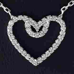 14K White Gold - Necklace & Pendant Set