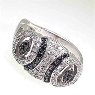 18K White gold Diamond Ring,Dia-0.75 cts