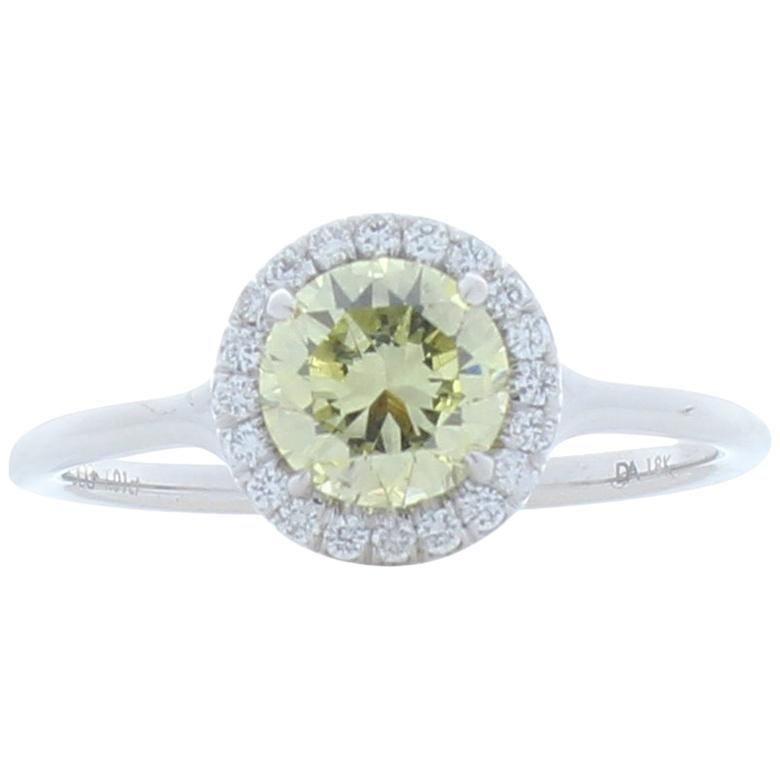 GIA Certified 1.01 Carat Natural Fancy Yellow Diamond
