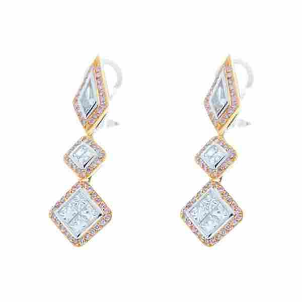 1.79 Carat Total Fancy Shape Two-Tone Diamond Drop