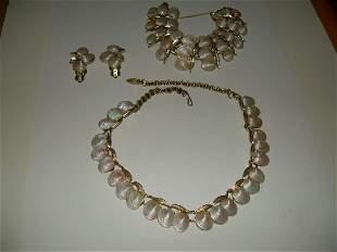 Deltah Demi-Parure Jewelry Set, Shell-(Choker