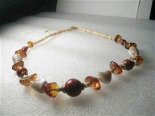 Vintage Mother-of-Pear; l, Puka, Amber, Agate, Beaded