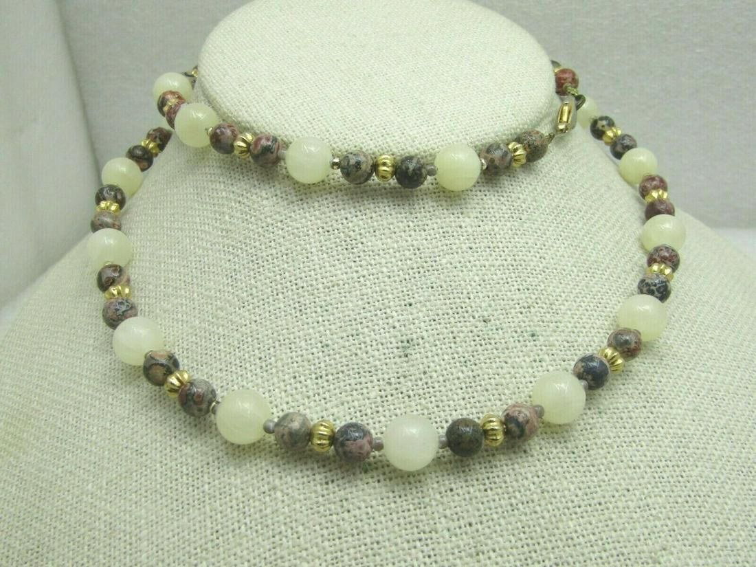 Southwestern Quartz and Tan/Pink/Gray Agate Beaded