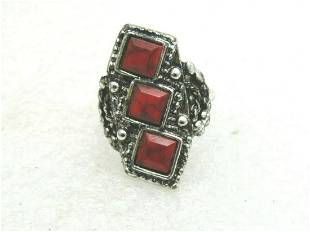 Vintage Faux Red Turquoise Southwestern Ring,