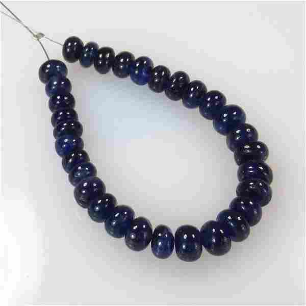 38.90 Ct Natural 31 Blue Sapphire Beads