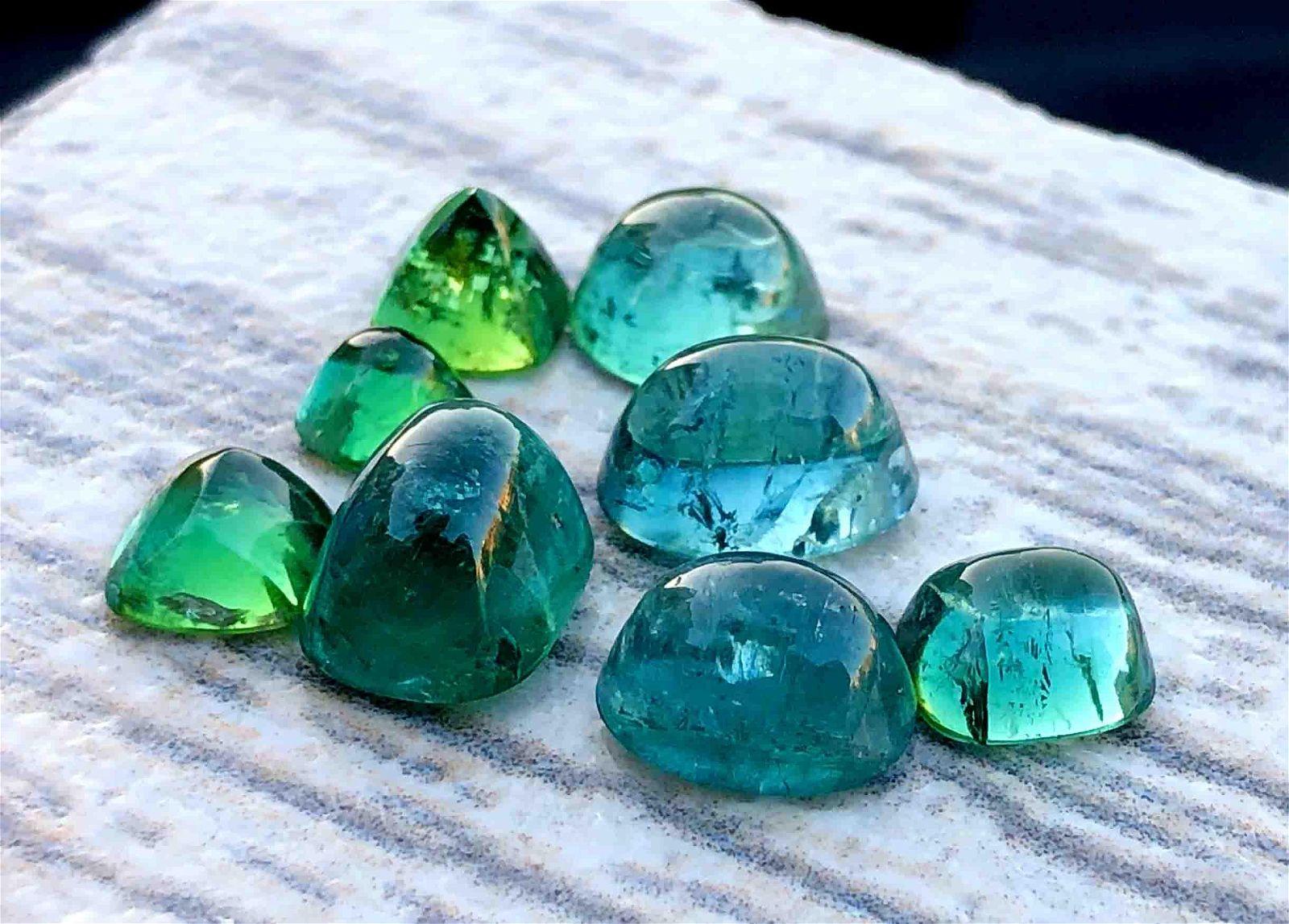 Tourmaline Cabochon ~ Natural Tourmaline Green Colour
