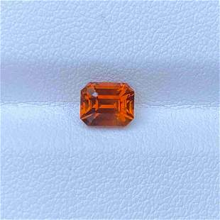 Natural Orange Sapphire 1.75 Cts Emerald Cut Loose