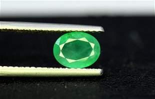Emerald, 1.45 Carats Oval Cut Natural Zambian Emerald