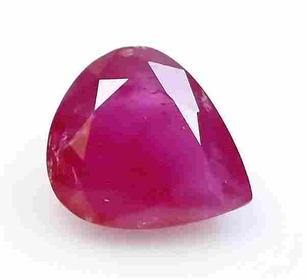 Natural GIL Certified Red Ruby Gemstpne