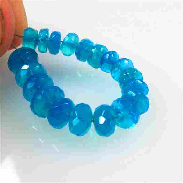 12.62 Ct Natural 19 Drilled Neon Blue Faceted Fire Opal