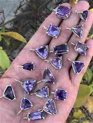 Beautiful Amethyst Lockets Sterling With Silver 925 (