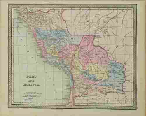 850 Mitchell Map of Peru and Bolivia -- Peru and