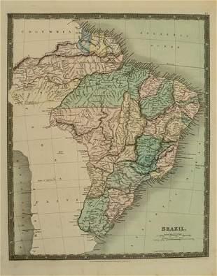 1831 Teesdale Map of Brazil -- Brazil