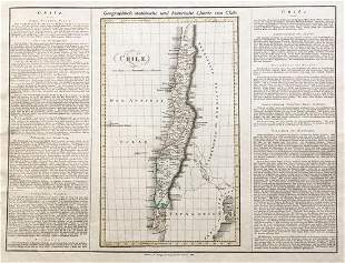 Geographical / Historical Map of Chile, 1823
