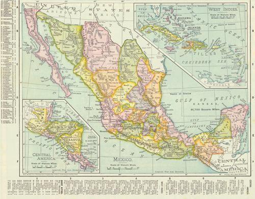 Mexico. Rand, McNally & Co.'S Grammar School Geography