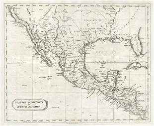 Spanish Dominions in North America. Arrowsmith/Lewis