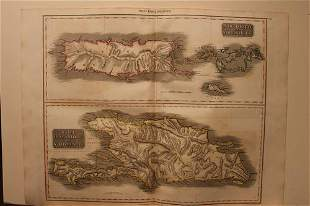 1817 Map of Porto Rico and Virgin Islands