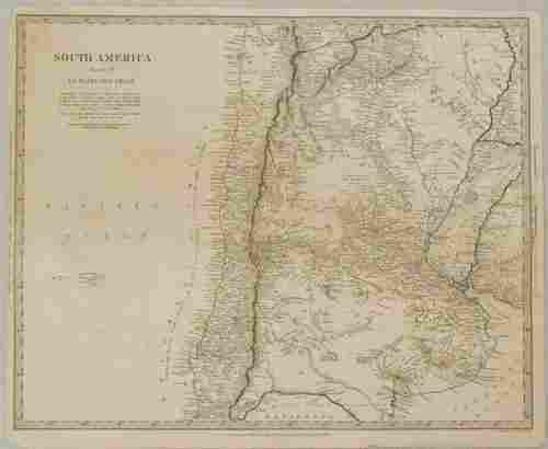 1840 SDUK Map of Northcentral Chile and Argentina --