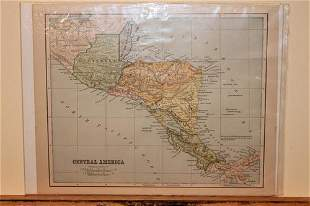 1871 Map of Central America