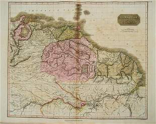 1817 Thomson Map of Northern South America -- Caraccas