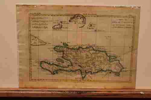 1783 Map of Santo Domingo