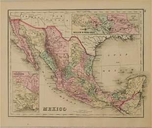 1876 Gray Map of Mexico -- Mexico