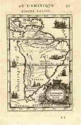 SOUTH AMERICA. Amerique Meridionale Brazil Chile