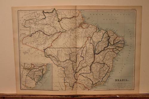 1889 Map of Brazil