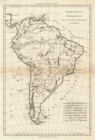 Amerique Meridionale. Antique map of South America.
